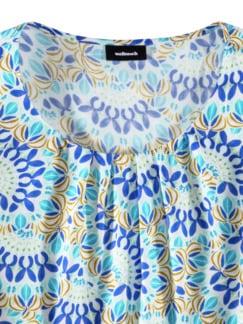 Viskose-Shirtbluse Bella Italia Blau Detail 3