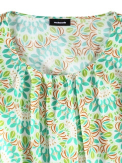 Viskose-Shirtbluse Bella Italia Grün Detail 3
