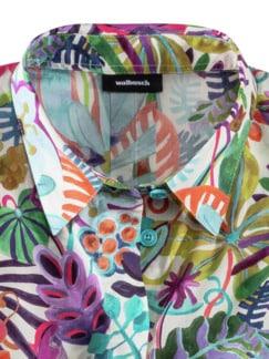 Liberty Lieblingsbluse Blätter Grün Detail 3