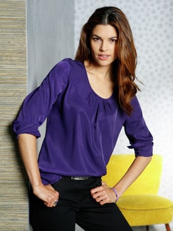 Shirtbluse Lila Detail 1