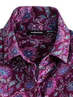 Kuschelflanell-Bluse Floral Beere Detail 3