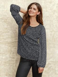 Shirtbluse 2 in 1 Schwarz-Weiß Detail 2