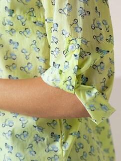 Portofino Baumwoll Bluse Vespa Gelb Detail 4