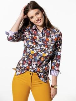 Premium-Stretch Bluse Geblümt Multicolor Detail 1