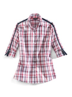 Extraglatt Krempelarm-Bluse