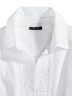 Jersey-Bluse Exquisit Weiß Detail 4
