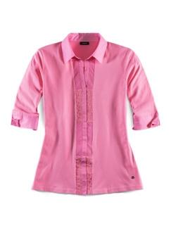Jersey-Bluse Exquisit Pink Detail 2