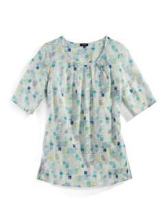 Shirtbluse Porcellana Aqua Detail 2