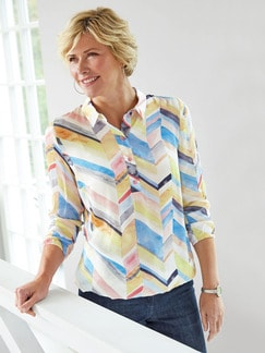 Viskose-Shirtbluse Farbenspiel Multicolor Detail 2