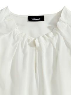 Shirtbluse Falten-Drape Weiß Detail 4