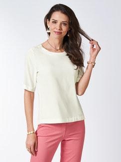 Seiden-Shirtbluse Edel-Basic Offwhite Detail 1