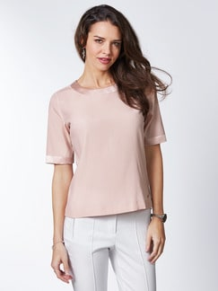 Seiden-Shirtbluse Edel-Basic Rose Detail 1