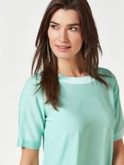 Seiden-Shirtbluse Edel-Basic Aqua Detail 4