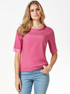 Seiden-Shirtbluse Edel-Basic Pink Detail 1