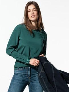 Seiden-Shirtbluse Edel-Basic Smaragdgrün Detail 1
