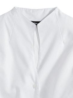 Extraglatt-Bluse Kelchkragen Weiß Detail 4