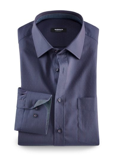 Extraglatt-Dobby-Streifenhemd