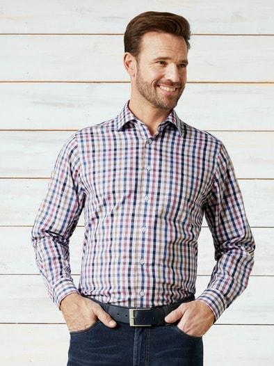 extraglatt twill hemd in farbe lila comfort fit jetzt bestellen walbusch. Black Bedroom Furniture Sets. Home Design Ideas