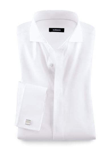 Vollzwirn-Hemd Umschlagmanschette