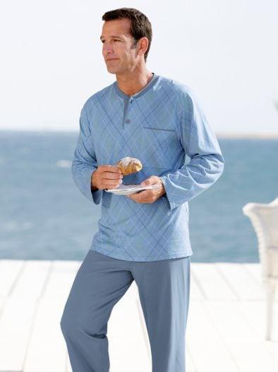 Baumwoll-Schlafanzug Argyle