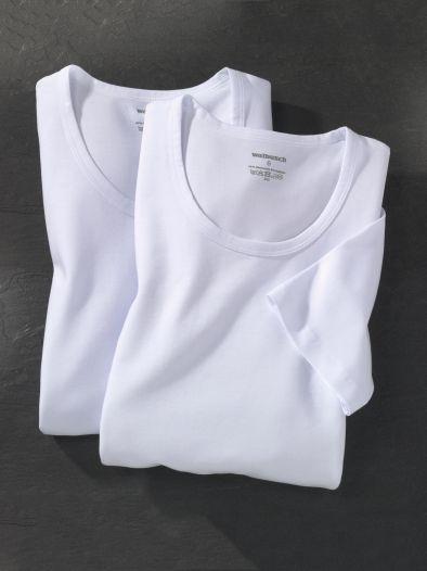 Jersey-Shirt Rundhals 2er-Pack