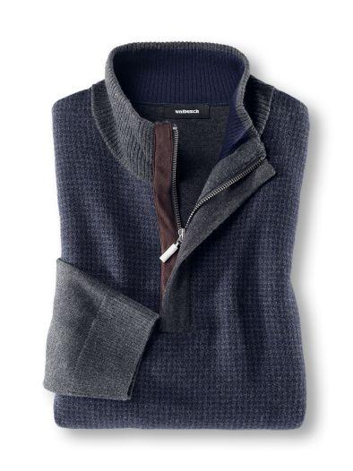 Jacquard Pullover Hahnentritt