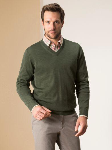 Merino- Mix V- Pullover