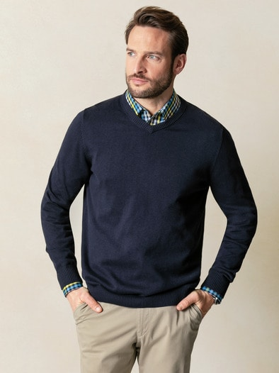 V Pullover Cashmere Touch