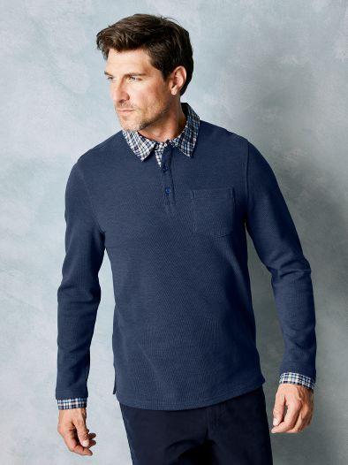 Hemd Pullover 2 In 1 Blau Walbusch