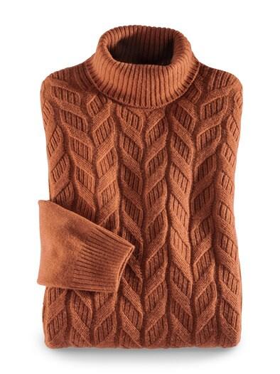 Zopf-Pullover Himalaya-Wolle