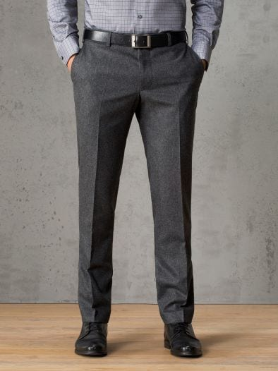 Business-Flanellhose Slim Fit