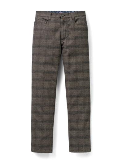 Five-Pocket Soft Flanell Glencheck
