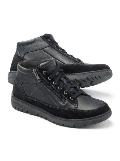 Thermo Kalbleder-Sneaker High Top