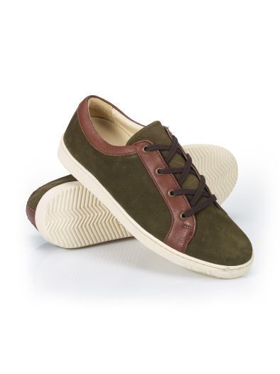 Freizeit-Sneaker Leder-Mix