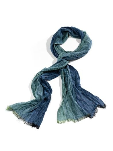 Crinkle-Schal Blue&Green