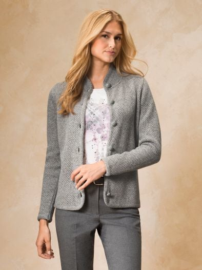 Strickjacke Soft-Tweed