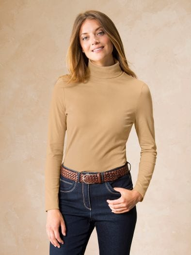 Rollkragen-Shirt Dame