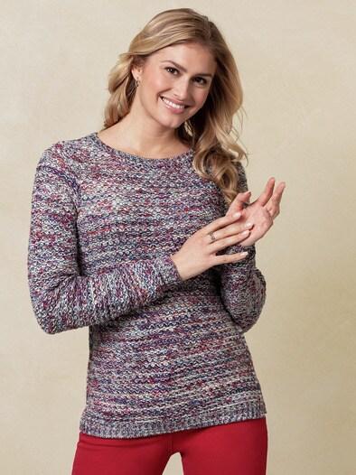 Pima Cotton Pullover Emilia Blue