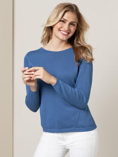 b7db4e9ab377 Baumwoll-Pullover Nahtlos in Farbe Hellblau kaufen Sie hier   Walbusch