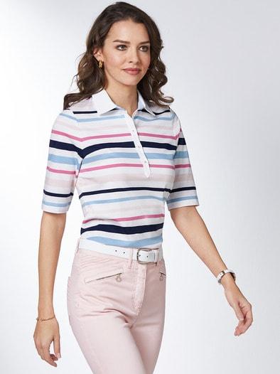 Pima Cotton Polo Streifen