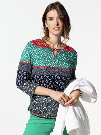 Blouson-Shirt Streublumen