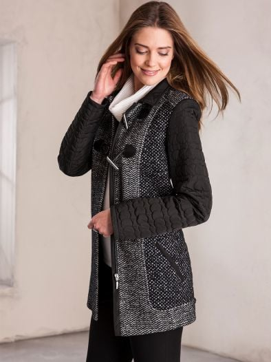Wolljacke Black and White
