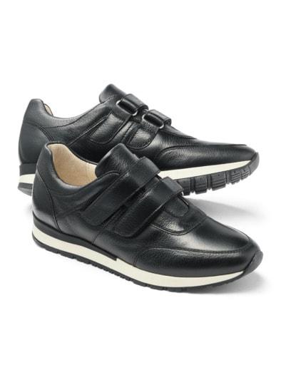Hirschleder Doppelklett-Sneaker