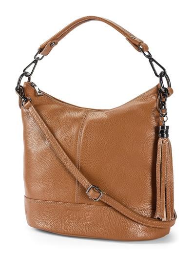 Lederhandtasche Standfest