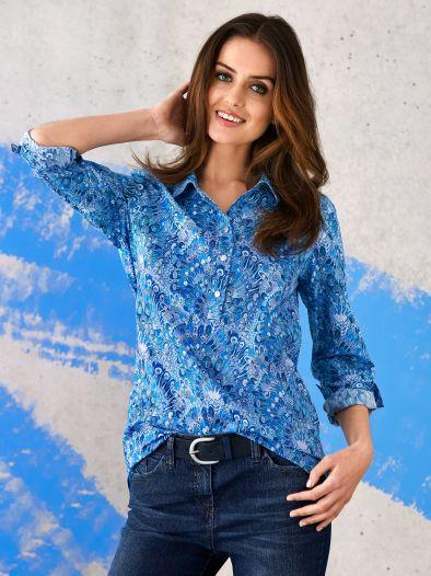 Shirtbluse Lady Blue