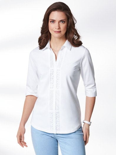 Jersey-Bluse Exquisit