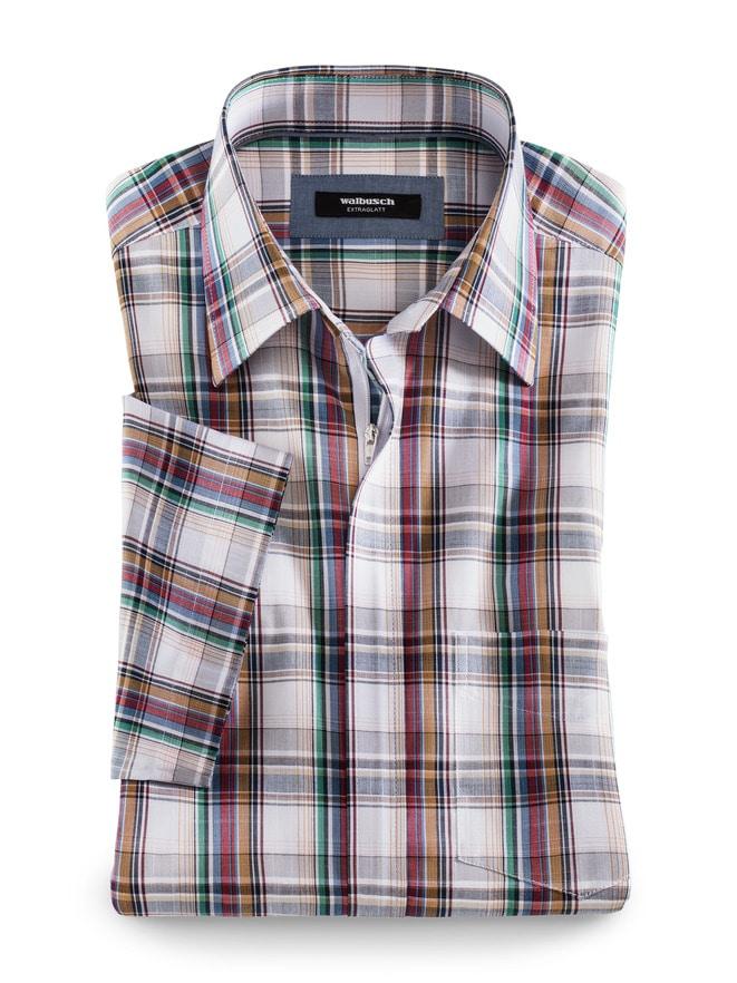 Reißverschluss-Hemd Tropical