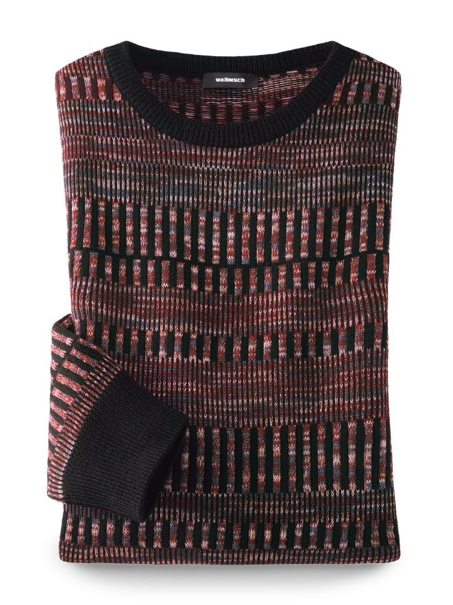 Jacquard-Pullover Farbklaviatur