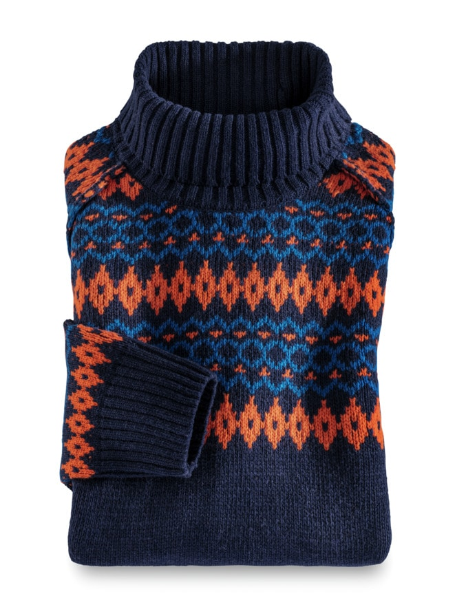 Norweger Rollkragen-Pullover