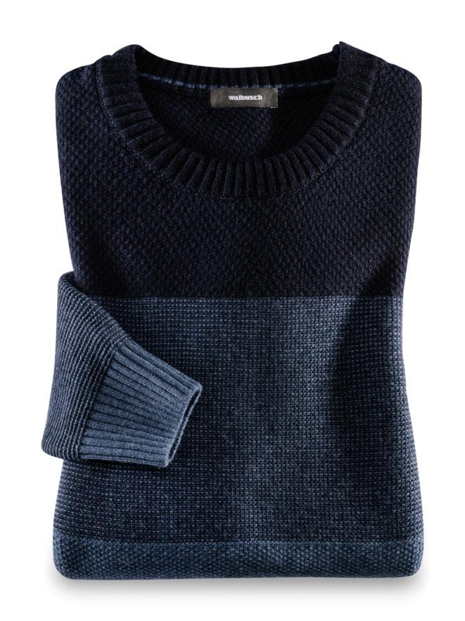 Streifen Pullover Cashmere-Mix